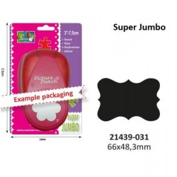 "Голям пънч рамка - 6.6см х 4.83см - Picture punch super jumbo 7,5cm/3"" ornate bracket"