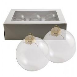 Стъклена коледна топка за декорация - X-mas ball glass - 7 см. - 1бр.