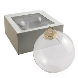 Стъклена коледна топка за декорация - X-mas ball glass - 8 см. - 1бр.