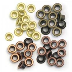 """Айлети - Memory Keepers - standard eyelets copper warm metal 3/16"""" - 40бр."""
