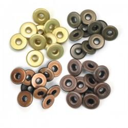 Айлети - Memory Keepers - wide eyelets copper warm metal