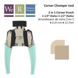 Перфоратор за заобляне на ъгли в 2 размера - 6.4мм и 12.7мм - Memory Keepers - Crop-A-Dile corner chomper tool