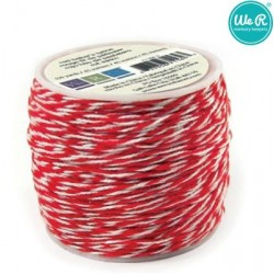 Цветен канап в червено - 45м - Memory Keepers Baker's twine 45m spool red