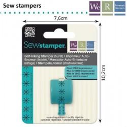Накрайник за печатане на снижинки - Memory Keepers - sew stamper burst stitch head