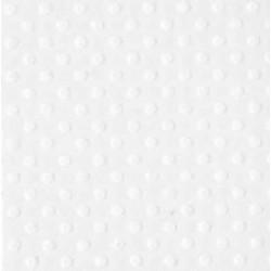 """Релефен картон на точки в бяло 12"""" х 12"""" - Bazzill basics paper - Bazzill dot Swiss 12x12"""" x1 salt - 180гр."""