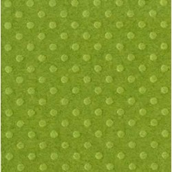 """Релефен картон на точки - зелен 12"""" х 12"""" - Bazzill dot Swiss 12x12"""" x1 clover leaf - 180гр."""
