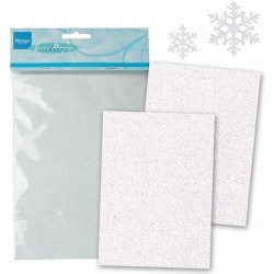 """Брокатен картон със  """"снежен ефект """" - Marianne Design - snow paper"""