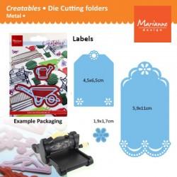 Щанца за изрязване етикет/ надпис/ таг - Marianne Design Creatables labels