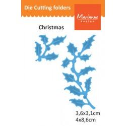 Шаблон за рязане и релеф клонка холи - Marianne Design - Creatables holly branches