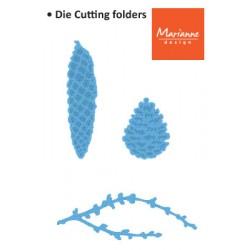 Щанца за изрязване клонче и 2бр.шишаркr - Marianne Design - Creatables Tiny's pine cones