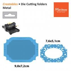 Щанца за изрязване и релеф овална рамка / таг/ етикет - Marianne Design Creatables oval lable stencil
