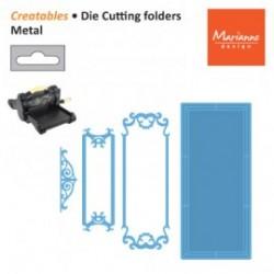 Шаблони за рязане и релеф етикет/ таг/ надпис - Marianne Design - Creatables Petra's rectangle