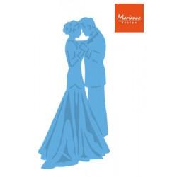 Щанца за изрязване и релеф булка и младоженец - Marianne Design - Creatables bride & groom