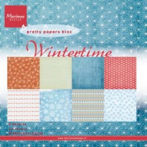 Дизайнерско блокче - Marianne Design pretty papers bloc wintertime