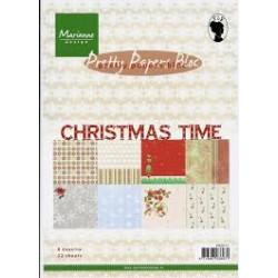 Дизайнерско блокче - Marianne Design pretty papers bloc christmas time
