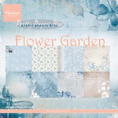 Дизайнерско блокче - Marianne Design pretty papers bloc flower garden