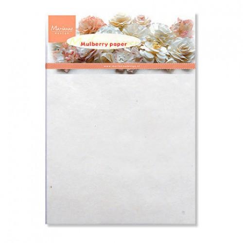 Мълбъри хартия за цветя бяла - Marianne Design - mulberry paper white