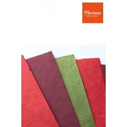 Мълбъри хартия за цветя Коледна - Marianne Design - mulberry paper christmas