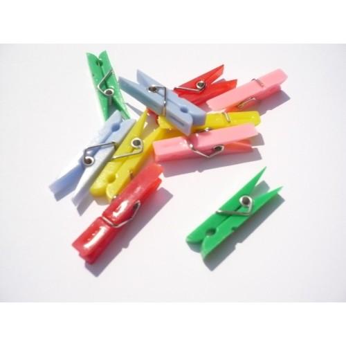 Микс от пластмасови щипки 3.5см - Clothes-pegs plastic 3.5 cm. - 10бр.