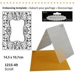 Ембосинг папка рамка със завъртулки - Darice - Embossing template 10,8x14,6cm scroll