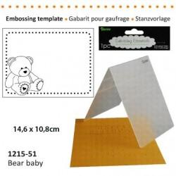 Ембосинг папка бебе мече - Darice - Embossing template 10,8x14,6cm bear baby