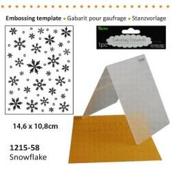 Ембосинг папка със снежинки - Darice - Embossing template 10,8x14,6cm snowflake