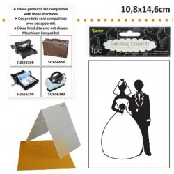 Ембосинг папка булка и младоженец - Darice - Embossing template 10,8x14,6cm bride groom