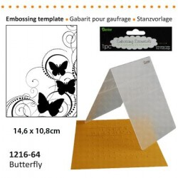 Ембосинг папка пеперуди - Darice - Embossing template 10,8x14,6cm butterfly