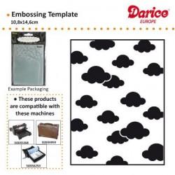 Ембосинг папка с облачета - Darice - Embossing template 10,8x14,6cm clouds