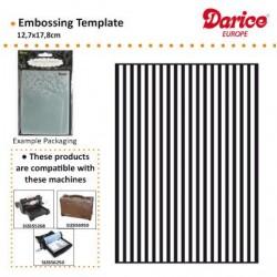 Ембосинг папка линии - Darice - Embossing template 12,7x17,8cm stripe