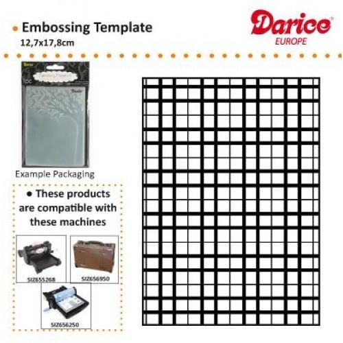 Ембосинг папка каре - Darice - Embossing template 12,7x17,8cm plaid