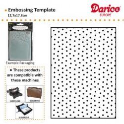 Ембосинг папка точки - Darice - Embossing template 12,7x17,8cm dot