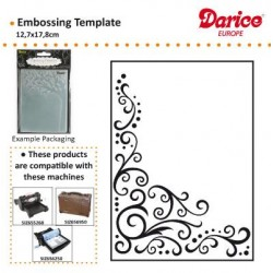 Ембосинг папка завъртулки - Darice - Embossing template 12,7x17,8cm scroll flourish