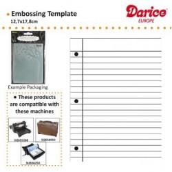 Ембосинг папка лист от тетрадка - Darice - Embossing template 10,8x14,6cm notebook