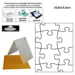 Ембосинг папка пъзел - Darice - Embossing template 10,8x14,6cm puzzle