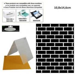 Ембосинг папка тухли - Darice - Embossing template 10,8x14,6cm brick