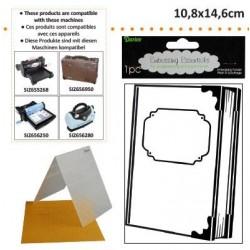 Ембосинг папка корица на книга - Darice - Embossing template 10,8x14,6cm bookcover
