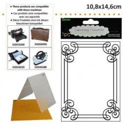 Ембосинг папка рамка - Darice - Embossing template 10,8x14,6cm ornate