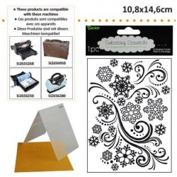 Ембосинг папка снежинки - Darice - Embossing template 10,8x14,6cm snowflake