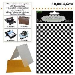 Ембосинг папка шахматна дъска - Darice - Embossing template 10,8x14,6cm checkered