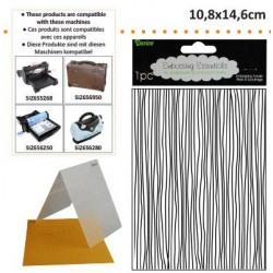 Ембосинг папка с тънки ленти - Darice - Embossing template 10,8x14,6cm thin lines
