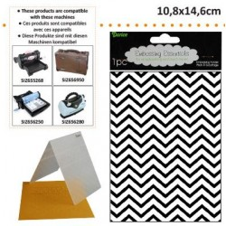Ембосинг папка зиг заг - Darice - Embossing template 10,8x14,6cm chevron