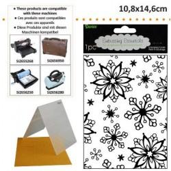 Ембосинг папка със снежинки - Darice - Embossing template 10,8x14,6cm snowflakes