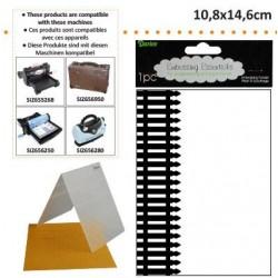 Ембосинг папка с оргада - Darice - Embossing template 10,8x14,6cm picket fence