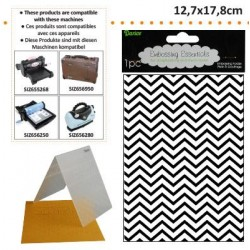 Ембосинг папка зиг заг - Darice - Embossing template 12,7x17,8cm chevron