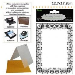 Ембосинг папка рамка - Darice - Embossing template 12,7x17,8cm doily