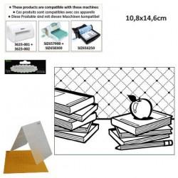 Ембосинг папка учебници - Darice - Embossing template 10,8x14,6cm school books