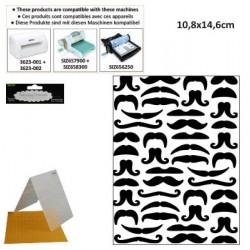 Папка за релеф с  мустаци - Darice - Embossing template 10,8x14,6cm mustaches