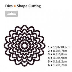 Щанца за изрязване и релеф кръг - Darice - Die cut stencil loopy circle 108x108mm