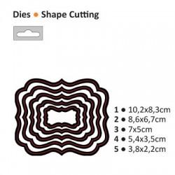 Шаблони за рязане рамка / таг / етикет - Darice - Die cut stencil nesting rectangle 102x83mm